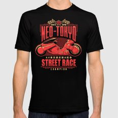 Neo-Tokyo Street Race Champion Black Mens Fitted Tee SMALL