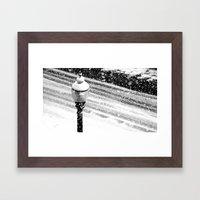 Lightpost In The Snow St… Framed Art Print