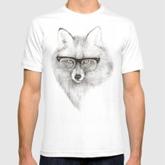 Fox Specs White Mens Fitted Tee SMALL