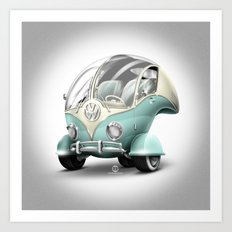 Volkswagen Bubble Art Print