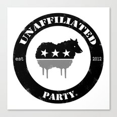 Unaffiliated Party Badge Canvas Print