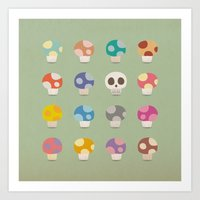 How to Tell Poison Mushrooms Art Print