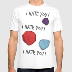 Dandy (I Hate You!) Mens Fitted Tee SMALL White