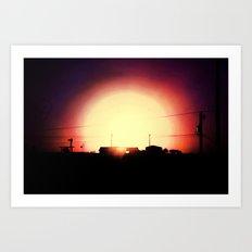 Dropping Sun Art Print