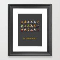 Mega Star Wars: Episode … Framed Art Print