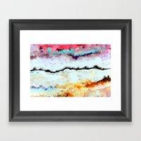 Agitation Inverted Framed Art Print