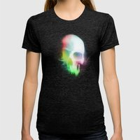 Skull Womens Fitted Tee Tri-Black SMALL