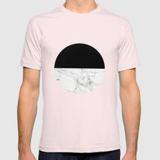 Marble Sunset Mens Fitted Tee Light Pink SMALL