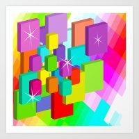 Blocked View Art Print