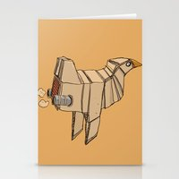 Space Chicken Stationery Cards