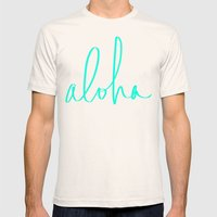Aloha Mens Fitted Tee Natural SMALL