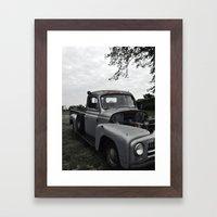 Vintage Truck  Framed Art Print