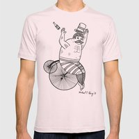 On wild and adventurous Penny-Farthling riders  Mens Fitted Tee Light Pink SMALL