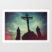 Prague Cross Art Print