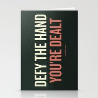 Defy The Hand You're Dea… Stationery Cards