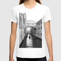 Venice Bridge of Sighs. Italy Womens Fitted Tee White SMALL
