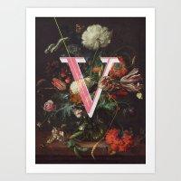 Letter V Art Print