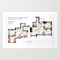 FRIENDS Apartments Floor… Art Print