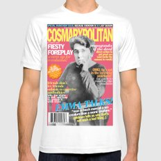 COSMARXPOLITAN, Issue 16 Mens Fitted Tee SMALL White