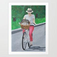 Sunday in Central Park Art Print