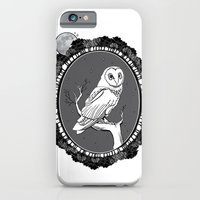 iPhone & iPod Case featuring Night Owl Oval by CSNSArt