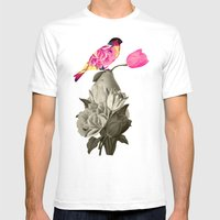 The Bird & The Pear Mens Fitted Tee White SMALL