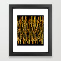 Vertical Brush Orange Ve… Framed Art Print