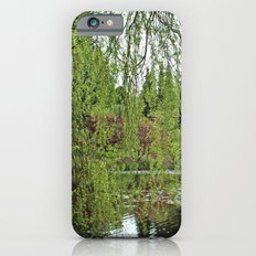 Lovely, soft green spring willow tree by the pond Slim Case iPhone 6s