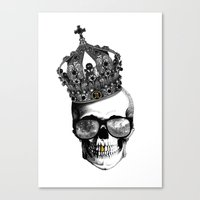 King skull Canvas Print