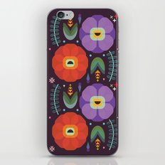 Flowerfully Folk iPhone & iPod Skin