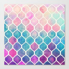 Rainbow Pastel Watercolo… Canvas Print