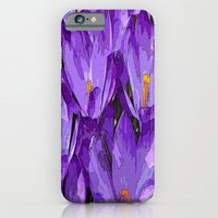 iPhone & iPod Case featuring Purple Crocuses  by Ethna Gillespie