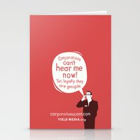 Corporations Can't Hear Me Now Stationery Cards