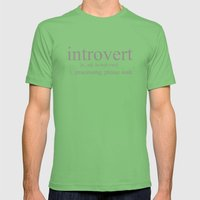 Introvert Mens Fitted Tee Grass SMALL
