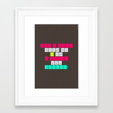 Don't mess with I am a smart device! Framed Art Print