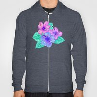 Hibiscus and Stripes Hoody