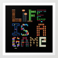 Life Is A Game. Art Print