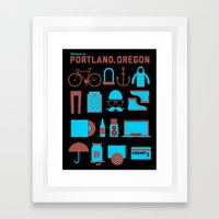 Welcome To Portland Framed Art Print