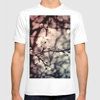Tree Blossom Mens Fitted Tee White SMALL
