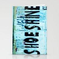 Shoe Shine  Stationery Cards