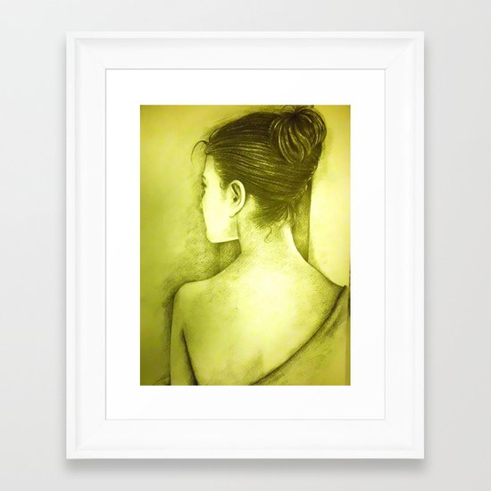 BEHIND Framed Art Print