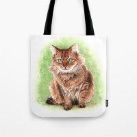 Somali cat portrait Tote Bag