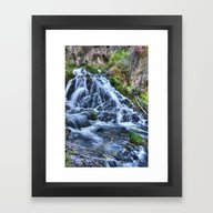 Framed Art Print featuring Tumbling Waters by Kent Moody