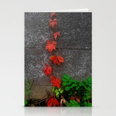 Red And Green Leaves On … Stationery Cards
