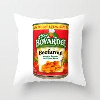 Beefaroni 2 Throw Pillow