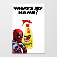 Whats my Name? Canvas Print