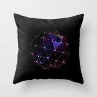 BLACKLIGHT CRYSTAL BALL Throw Pillow