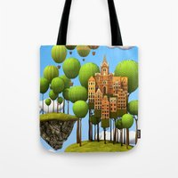 New City In The Sky Tote Bag
