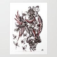 Butterfly's Diet Art Print