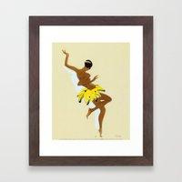 Josephine Baker dancing by Paul Colin  Framed Art Print
